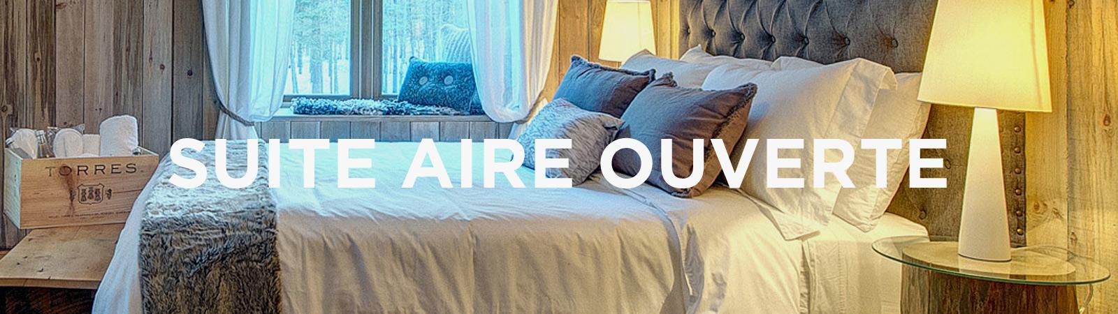 Suite aire ouverte © Auberge Le Cosy Mont-Tremblant