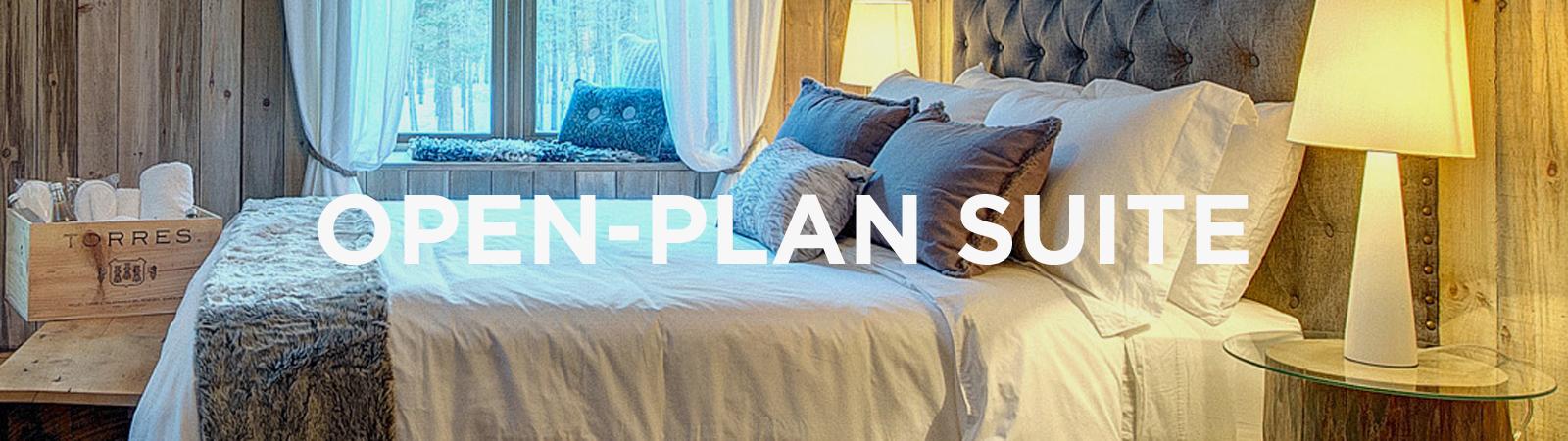 Open-plan suite © Auberge Le Cosy Mont-Tremblant