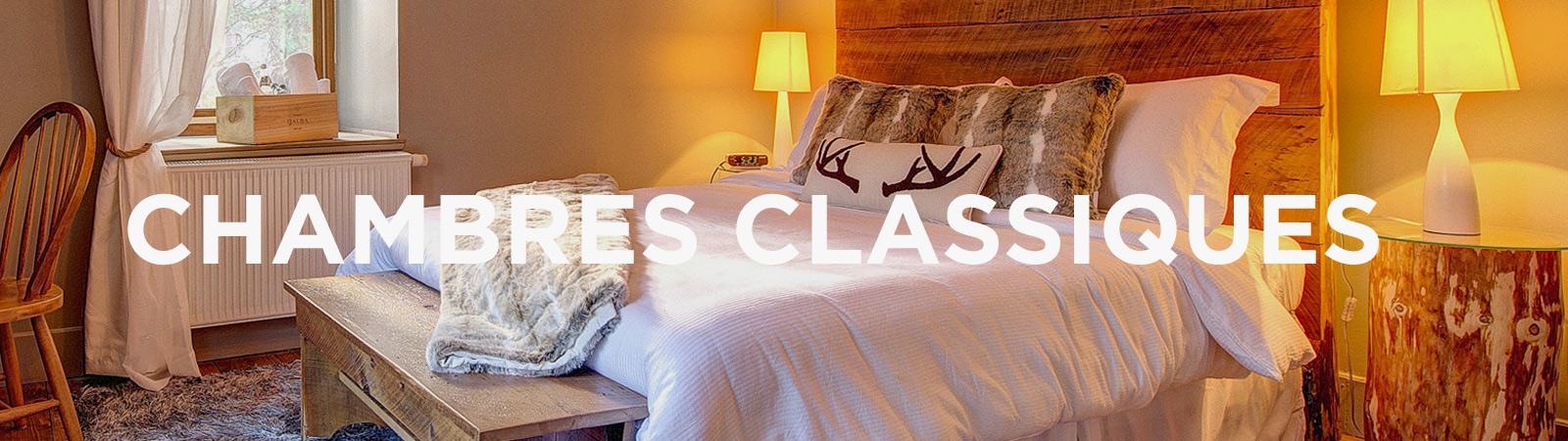 Chambres classiques © Auberge Le Cosy Mont-Tremblant
